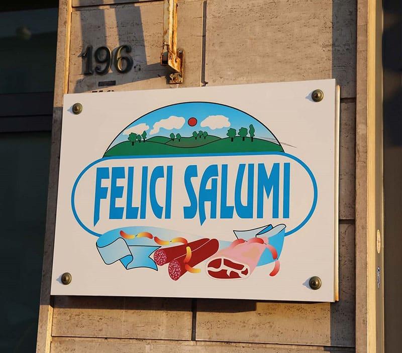 insegna salumificio felici salumi prato
