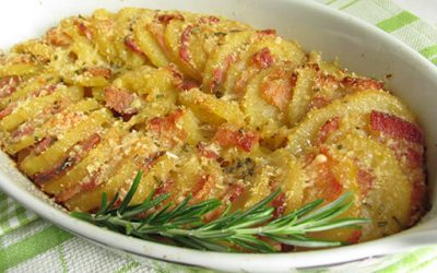 Patate gratinate al forno con Pancetta