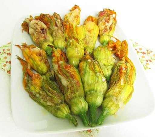 fiori di zucca ripieni ricotta salame